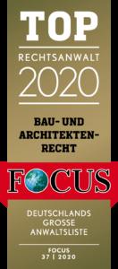 Top Anwalt Bau- und Architektenrecht 2020
