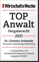 WiWo_TOPAnwalt_Vergaberecht_2021_Dr_Clemens_Antweiler